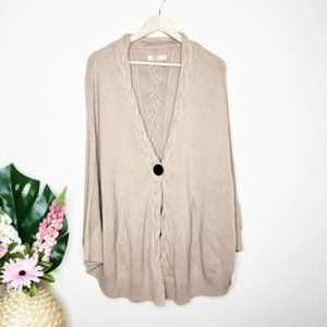 UGG Anjeline Knit Sweater Cape in Natural Heather